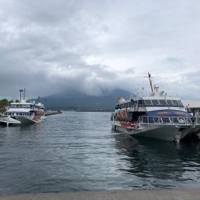 Sakurajima view from Kagoshima Port