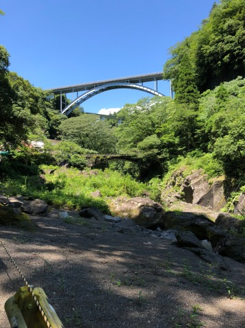 Takachiho 3-stage Bridge view from footpath